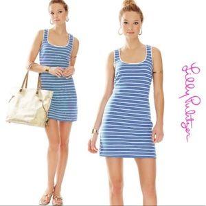 Lilly Pulitzer Lyla Blue Striped Shift Dress M